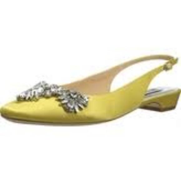 Badgley Mischka Shayla Yellow Slingback